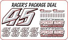 RACE CAR NUMBER PACKAGES  DIRT LATE MODEL MODIFIED STREET STOCK IMCA