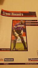 6.3.2001 Crewe Alexandra v Sheffield United programme
