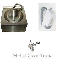 Lave-Mains Mural Inox + distributeur à savon 1 L .