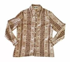 Vintage 70s Act Iii Baroque Button Down Shirt