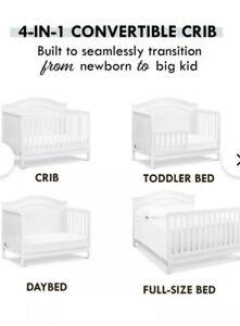 Davinci Charlie 4-1 Convertible Crib White