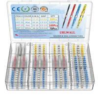 300X Solder Seal Heat Shrink Butt 2:1 Wire Terminal Connectors Splice Waterproof