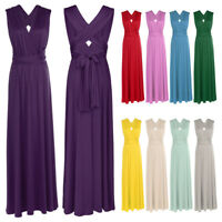 Women's Long Evening Dress Convertible Multi Way Wrap Bridesmaid Formal Sundress