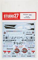 Studio27 ST27-DC827 Honda NSX Super GT #8 2009 Decal for Tamiya 1/24