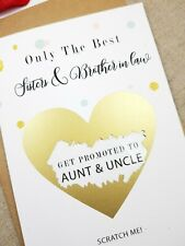 Pregnancy announcement card sister and brother in law promoted aunt uncle PA24