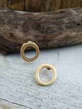 Anthropologie Gold Round Stud Earrings **New**