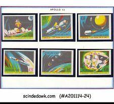 HAITI - 1970 'APOLLO 12' / SPACE - 6V - MINT NH IMPERF!!!