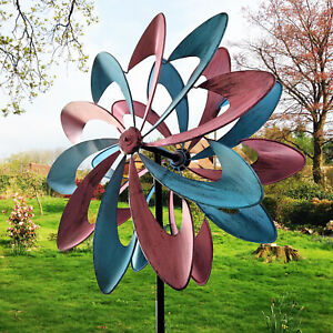 Windmill Wind Spinner Stake Garden Yard Decorate Art Lawn Outdoors Colorful
