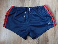 Vintage 80's Adidas Shiny Nylon Shorts Glanz West Germany Ibiza Sz 7 (S029)