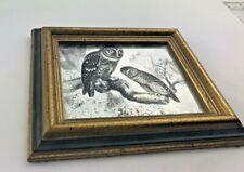 "OWL Family MINI, MIRRA -ART  Mid century 6.5"" x 4.5 mirror"