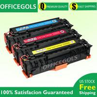 3pk Color Toner for HP CC530A 304A LaserJet CP2025dn CP2025n CM2320nf Printer
