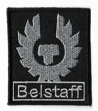 Belstaff Patch (6cm) Silver Embroidered Iron / Sew on Badge Toppa Parche Bordado