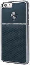 Ferrari GT Berlinetta White Stitch Leather Hard Case for Apple iPhone 6/6S -Blue