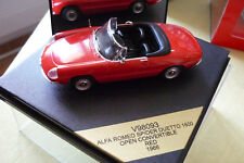 VITESSE 1/43 V98093 ALFA ROMEO SPIDER DUETTO 1600 OPEN CONVERTIBLE RED 1966