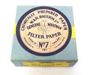 Vintage Whatman Filter Paper #7 Genuine W&R Balston Ltd Made in England