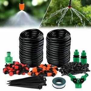 40m DIY Bewässerungssystem 35 drippers Gartenpflanze Gewächshaus Bewässerung NEU