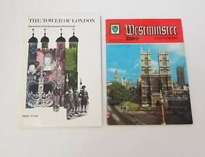London Souvenir Books Set of 2 The Tower of London & Westminster Abbey Pictorial