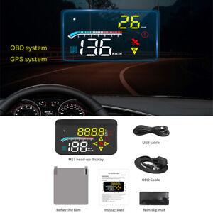 3.5'' Car HUD Speedometer Engine RPM Fuel Consumption OBD2+GPS System Universal