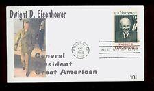 #1383 6c Eisenhower FDC Nice WII Color Laser Cachet  UA FD2637