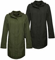 New Ladies Womens Showerproof Mac Light Rain Jacket Plus Sizes