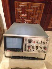 "Hitachi V-222 oscilloscope. Auto focusing 20MHz 6"" screen with operation manual."
