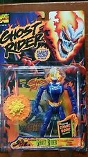 GHOST RIDER ACTION FIGURE 1995 GHOST RIDER FLAME GLOW W/COMIC BOOK VG