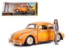Jada 1:24 Transformers 1971 Volkswagen Beetle Bumblebee w/ Charlie Figure 30114