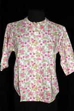 Rare Deadstock Never Worn 1960'S Floral Print Cotton Poly Blouse Size 36-38
