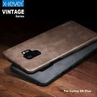 Genuine X-Level Vintage Leather Case Cover For Samsung Galaxy S10 S20 Note 10+ 9