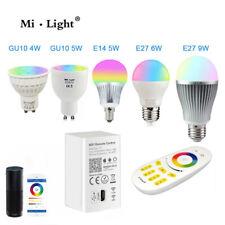 RGBW con WW E27 E14 GU10 MR16 LED Bombilla Luz Regulable RGB CCT Alexa 2.4G MiLight