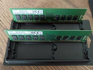 2xRAM DDR4 16GB / PC2666 /ECC/UB/ Samsung (2Rx8) Server-RAM