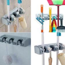 Kitchen Wall Mounted Mop Rack Brush Broom Holder Hanger Organizer Storage Tool
