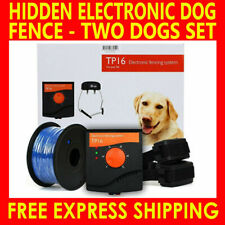 2 DOGS ELECTRIC FENCE SYSTEM INVISIBLE WATERPROOF WIRELESS FENCING CONTAINMENT