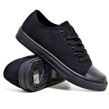 Mens Lace Up Casual Canvas Espadrilles Plimsolls Gym Trainers Pumps Shoes Size