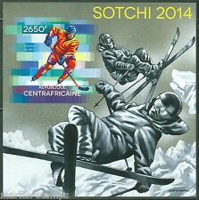 CENTRAL AFRICA  2014 SOCHI WINTER OLYMPICS 2014  S/S MINT NH IMPERFORATED