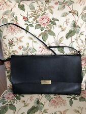 Authentic Stella McCartney Classic Handbag/Tote Black Leather/suedePurse Inside