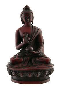 -statue Tibetischer Von Buddha Dhyani Amoghasiddhi Aus Harz 11cm BTE4 3951