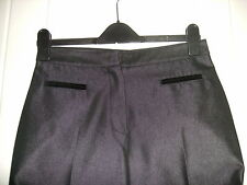 BNWOT - LADIES LOVELY BLACK SHINEY/METALLIC-LOOK TROUSERS BY NEXT - PETITE 10