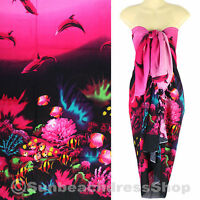 Dolphin Sea Sarong Pareo Skirt Dress Wrap Cover-up Beach Pink sa123p