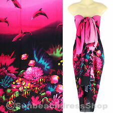 Dolphin Sea Sarong Pareo Skirt Dress Wrap Cover-up Beach Pink sa123p bid