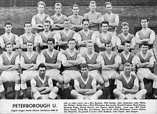 PETERBOROUGH UNITED FOOTBALL TEAM PHOTO>1960-61 SEASON