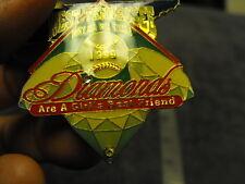 "1999 West Tenn, "" DIAMONDS are a Girls Best Friend Fast Pitch Softball  Pin"
