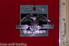 """Vintage Harley Davidson Eagles Racing Pin-""""Large""""""""Antique Nickle""""-#H728N-LP"""