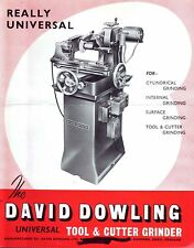 DAVID DOWLING TOOL & CUTTER GRINDER OPERATING MANUAL.