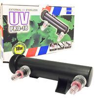 UV Pro 18 Ultraviolet Sterilizer Aquarium Filter 18W Bulb Green Algae Clarifier