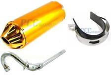 28mm MUFFLER EXHAUST PIPE XR50 CRF50 PIT DIRT BIKE 107 110 125cc GOLD 9 EX16