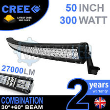 "50"" 300w Curved Cree LED Light Bar Combo IP68 Driving light Off Road 4WD Boat"