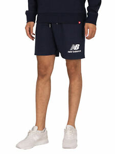 New Balance Men's Essentials Stacked Logo Sweat Shorts, Blue