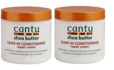 2 x CANTU SHEA BUTTER LEAVE IN CONDITIONER  HAIR REPAIR CREAM 473ml