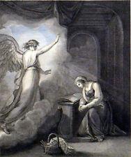 ANNUNCIATION 1794 Francesco Bartolozzi - William Hamilton ANTIQUE ETCHING
